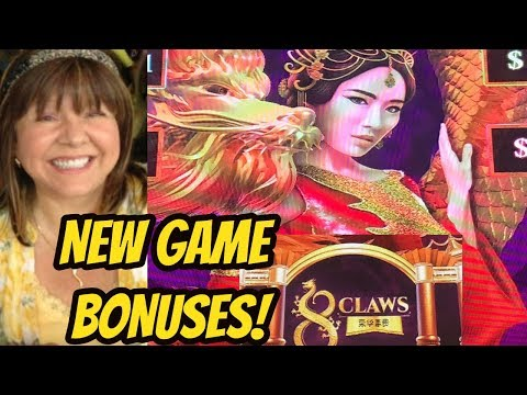 NEW GAME 8 CLAWS SLOT MACHINE BONUSES - 동영상