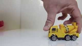 cement mixer and dozer for kids die cast טרקטורים לילדים