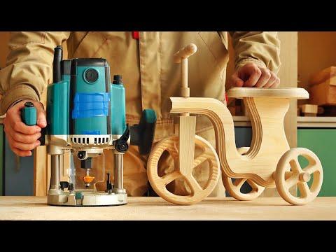 Изготовление и фрезерование деревянного велосипеда, Making And Milling Wooden Bicycle