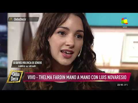 Entrevista a Thelma Fardin en Debo Decir