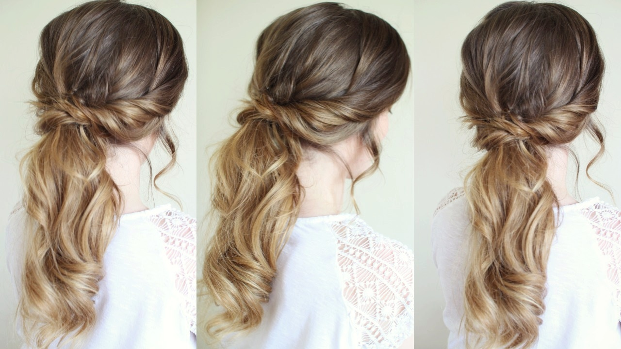messy / tousled ponytail style   ponytail hairstyles   braidsandstyles12