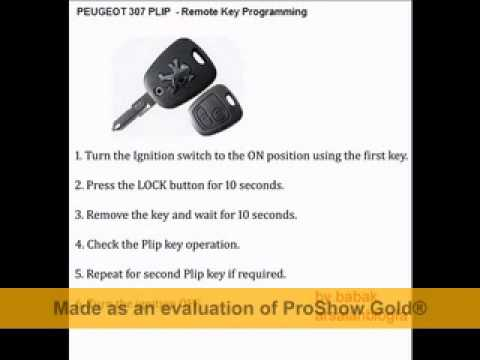 peugeot 307 plip remote key programming by babak youtube peugeot 206 audio wiring diagram pdf peugeot wiring diagram 206