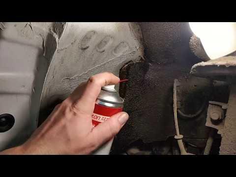 Как очистить антикор с арок автомобиля (шумоизоляция арок)