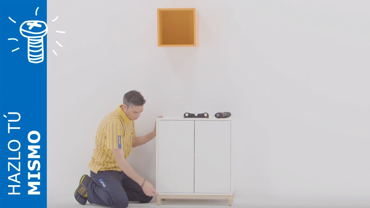 Accesorios Bano Sin Taladro Ikea.Instrucciones De Montaje De La Combinacion De Mueble De Almacenaje Eket Ikea