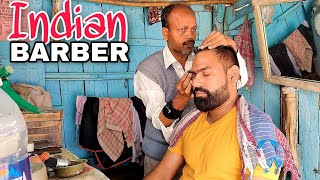 Energizing ASMR head massage with Nevk cracking & body streching by Indianbarber ( Travel Series)