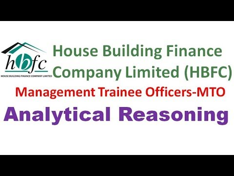 NTS analytical reasoning House Building finance company limited HBFC Management trainee officers MTO