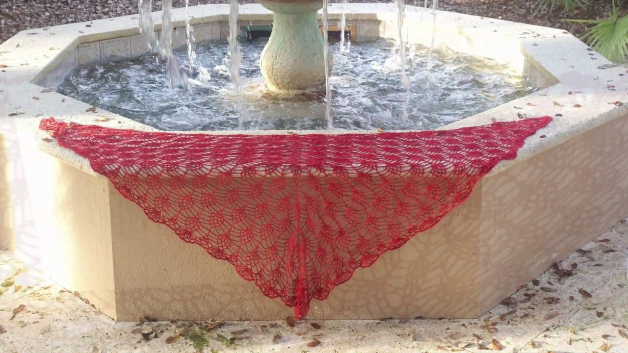 How To Crochet A Beautiful Pineapple Lace Shawl Top Down With Charts