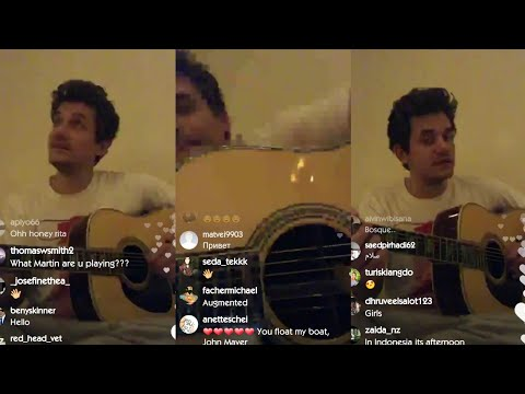 "John Mayer Sings ""Emoji Of A Wave"" In LIVESTREAM On Instagram (March, 28)"