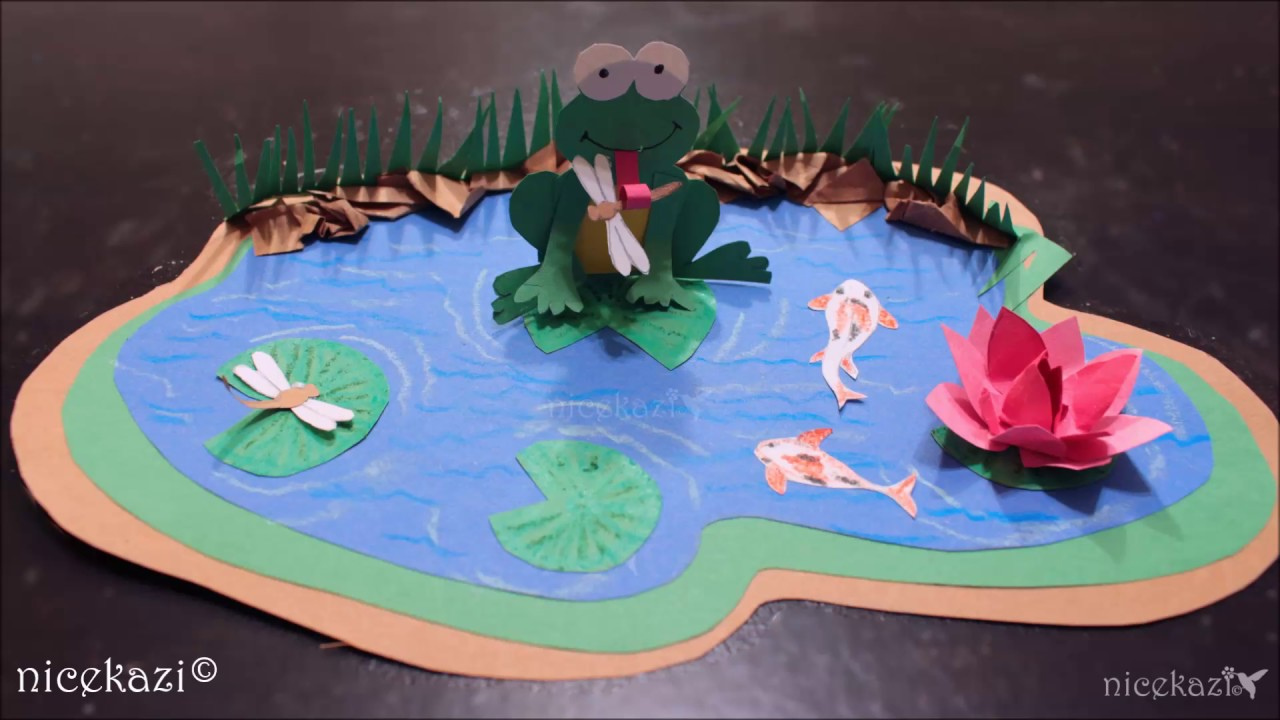How To Make Kids Crafts Paper Pond Youtube