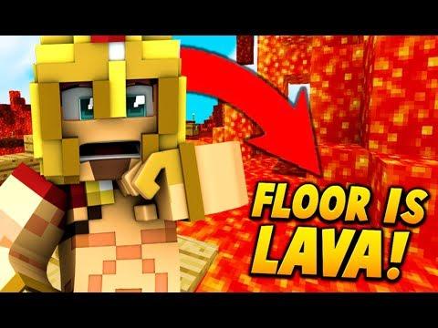 THE FLOOR IS LAVA CHALLENGE SUR MINECRAFT ! 🔥 HUNGER GAMES !