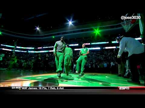 Nets / Celtics Intro - Kevin Garnett & Paul Pierce Return To TD Garden Boston 1/26/14