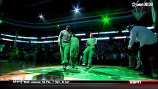 Nets / Celtics Intro - Kevin Garnett & Paul Pierce Return To TD Garden Boston 1/26/14