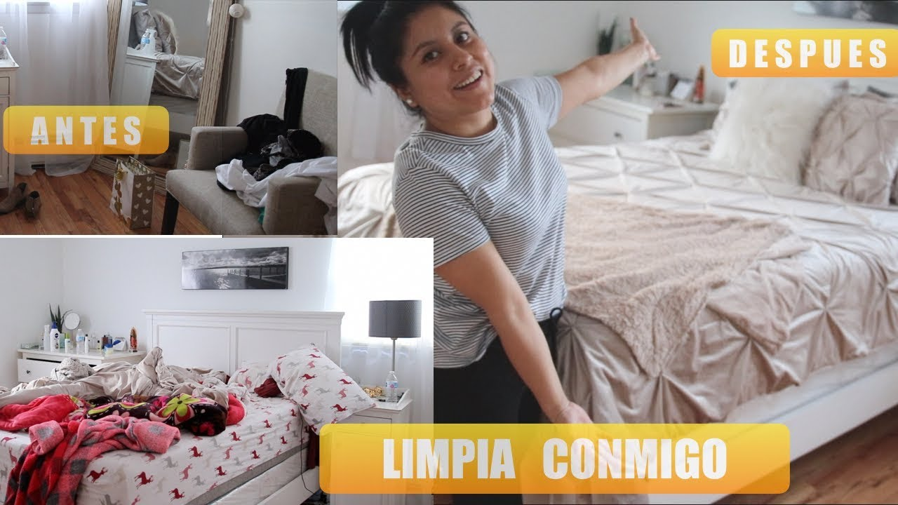 LIMPIA CONMIGO MI CUARTO/HABITACIÓN RUTINA DIARIA DE ...