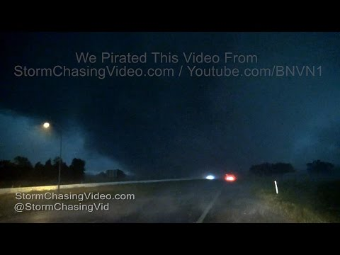 Canton, TX Up Close Violent Wedge Tornado and Aftermath SOT - 4/29/2017