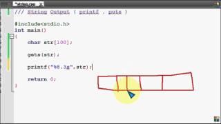 Bangla C programming tutorial  56  String  Output  A closer look of printf, puts
