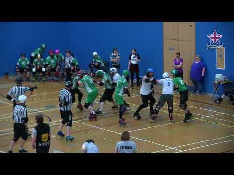 2017 BC Playoffs - MT3 - Final - Oxford Men's Roller Derby vs Teesside Skate Invaders