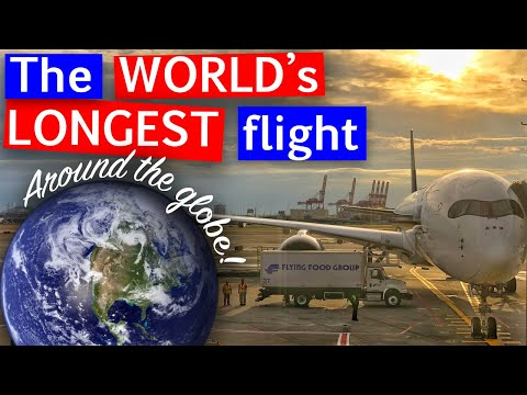 The Longest Flight in the World | A350-900ULR Business Class Singapore Airlines