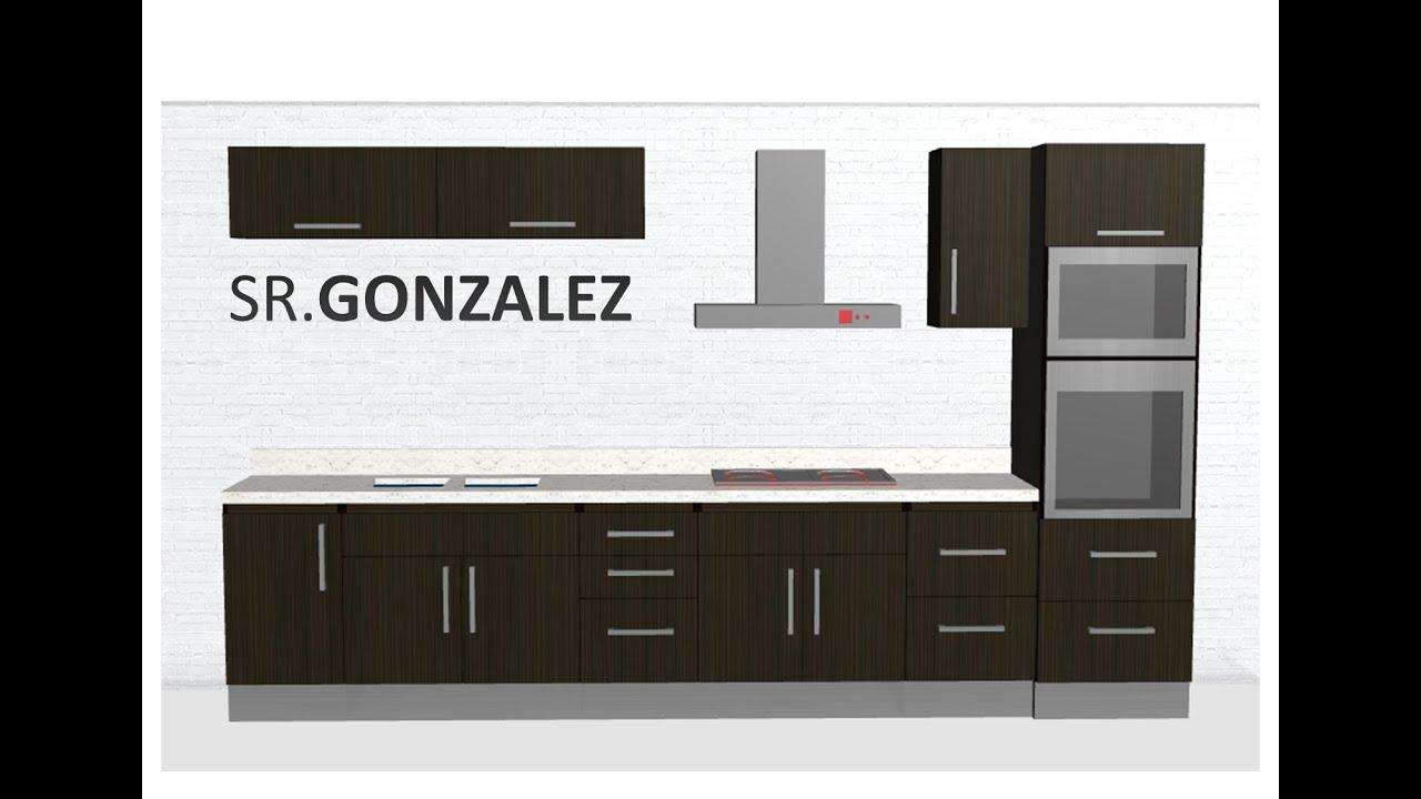 Construcci n de cocina modular planos y lista de piezas for Plano de pieza cocina y bano