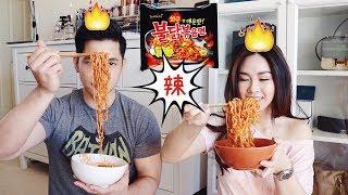 Spicy Korean Noodles Challenge | 韓國辣泡麵挑戰+繞口令+畫臉懲罰