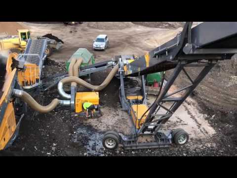 Screenpod 1600 Dual Vac ANL Badgerys Creek Bio Solids Compost Facility Australia