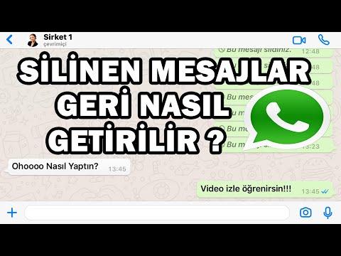 Whatsapp Yazilip Silinen Mesajları Geri Getirme Notification History Yöntemi