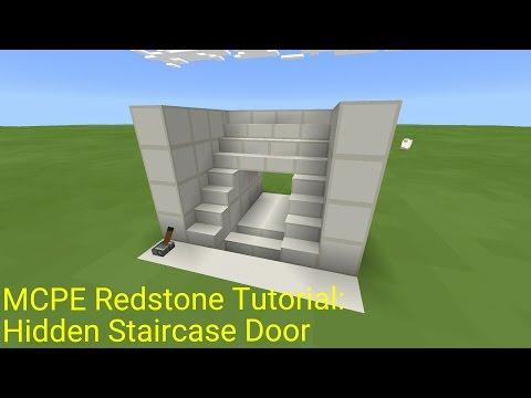 Minecraft Pocket Edition Redstone Tutorial: Hidden Staircase Door (MCPE 1.0.5)