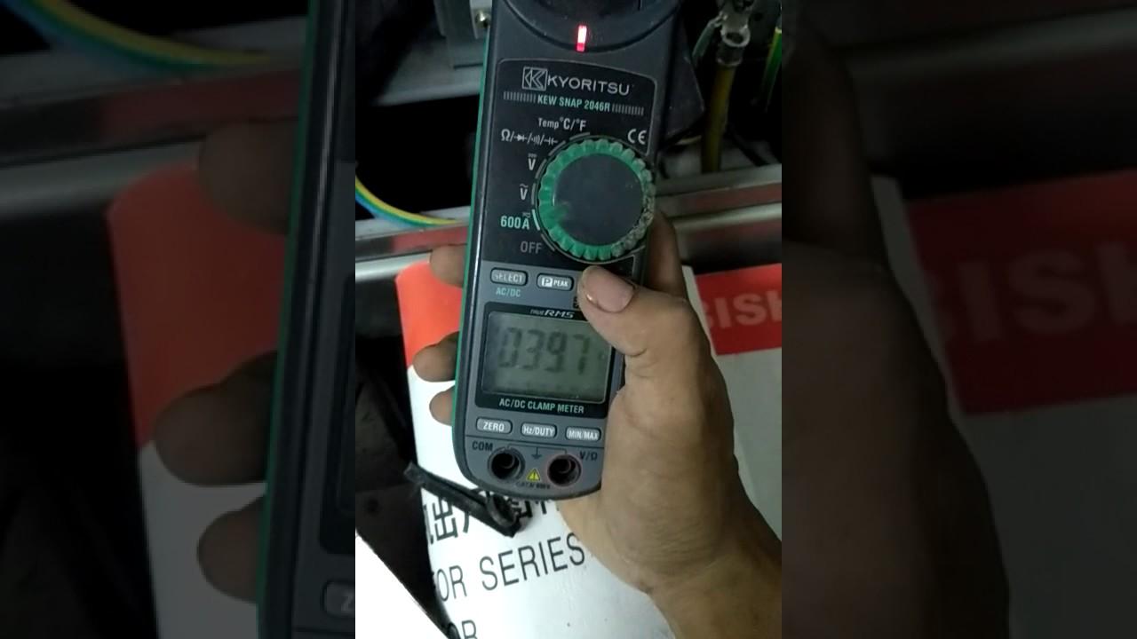 Cara Cek Ampere Dengan Clamp Meter Kyoritsu Youtube Tang Digital 2002pa