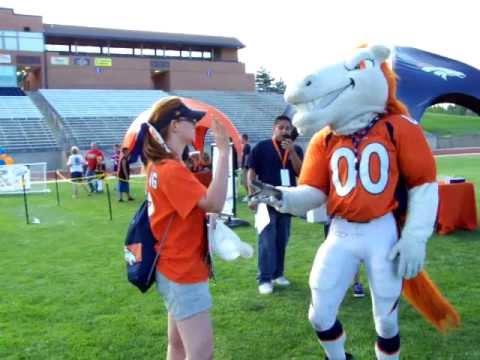 Denver Broncos Mascot Miles Dancing