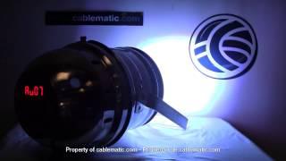 Foco PAR64 de 177 LED de 10mm cromado distribuido por CABLEMATIC ®