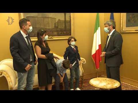 Il Presidente Roberto Fico incontra il giovane atleta Giorgio Torrisi