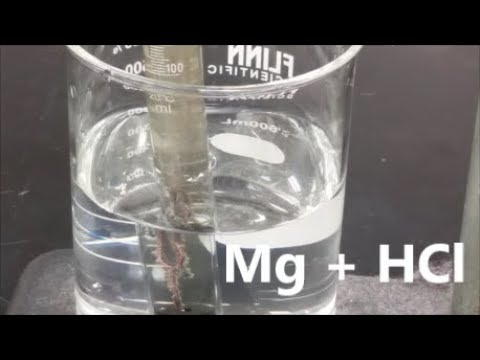 Molar Volume Of Hydrogen Gas - Mg + HCl