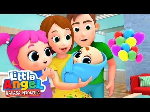 Bertemu Dengan Adik Bayi Baru Kartun Anak Little Angel Bahasa Indonesia Youtube