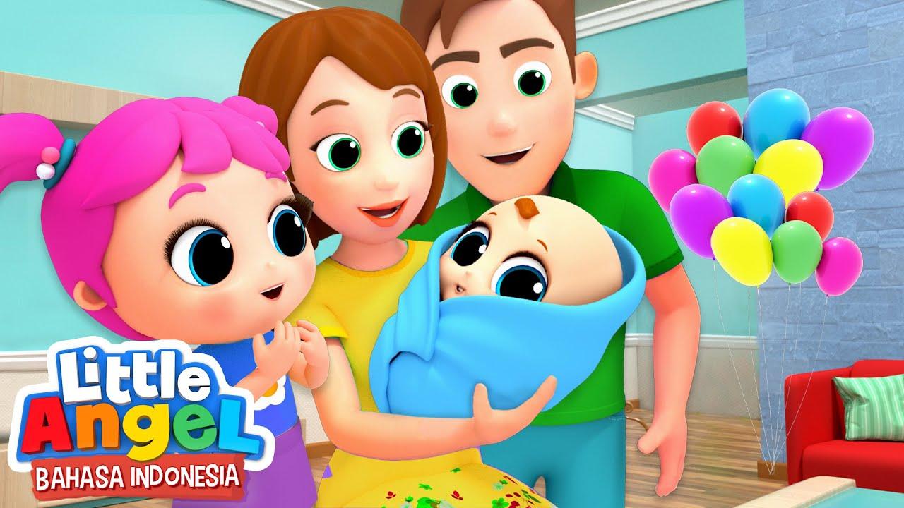 Download Bertemu dengan Adik Bayi Baru  | Kartun Anak | Little Angel Bahasa Indonesia