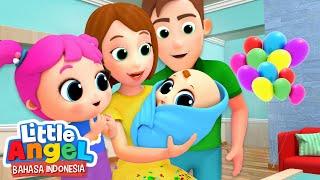 Bertemu dengan Adik Bayi Baru  | Kartun Anak | Little Angel Bahasa Indonesia