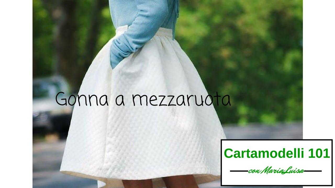 best authentic 1c796 a9462 La gonna a mezza ruota - Cartamodelli 101 con Maria Luisa