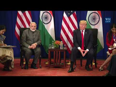 President Trump Participates in a Bilateral Meeting with Prime Minister Narendra Modi of India