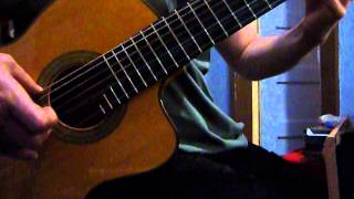 semi classical guitar improvisation with fingerpicking joining rare scales, dog star heresy
