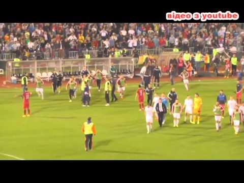 Сербы и албанцы устроили грандиозное побоище на футболе во время матча