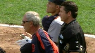 Leyland pauses argument with umpires