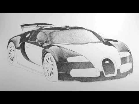 Drawing A Bugatti Veyron Lesson 6 Youtube