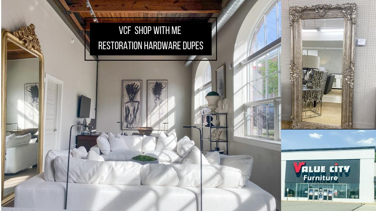 Restoration Hardware Dupes At Value City Furniture Shop With Me Youtube