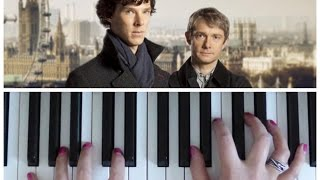 SHERLOCK THEME (BBC) | Easy PIANO Tutorial