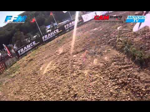 Chpt France Elite MX Gaillac - Tour du circuit avec Robin Kappel