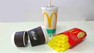Jelly gummy McDonalds Chips Coffee Coca Cola jello soda easy step by step guide DIY