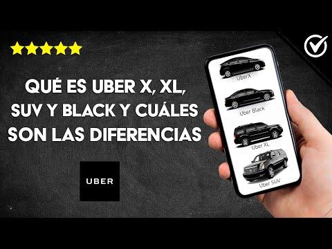 Qué es Uber X, XL, SUV y Black y Cuáles son las Diferencias, Precios y Capacidades