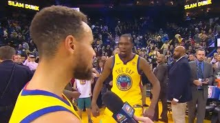 Kevin Durant Hits Steph Curry with Towel, Yells TEAM LEBRON After LeBron Picks Him for All-Star Game