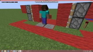 Механизмы в MineCraft.(Урок 1)Ловушка и Поршневая дверь.