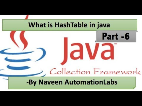 Java Hash Table || What is Hash Table in Java || Difference between HashMap & HashTable - Part 6
