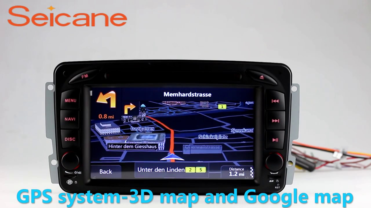 Android 7.1 1998-2006 Mercedes Benz G Cl W463 cd radio bluetooth head on
