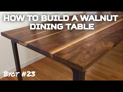 How to Build A Walnut Dining Table (BYOT #23)